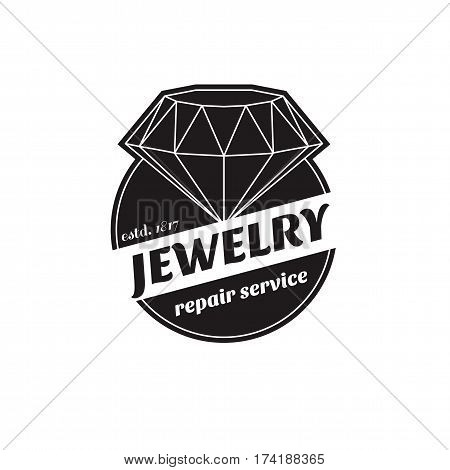 Vector Image Of Logo Jewelry Service. Trendy Concept For Repair Shop Or Maintenance Of Jewelry Produ