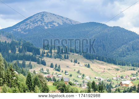 View in the Carpathians Ukraine close up