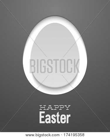 Easter creative card with egg. Vector illustration.