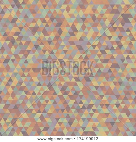 Seamless Pattern of Symmetric Triangles for Covers Templates Wrapping Paper. Background Continued Design Retro Stile. Triangular Mosaic.