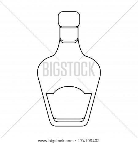 liquor bottle icon image vector illustration design