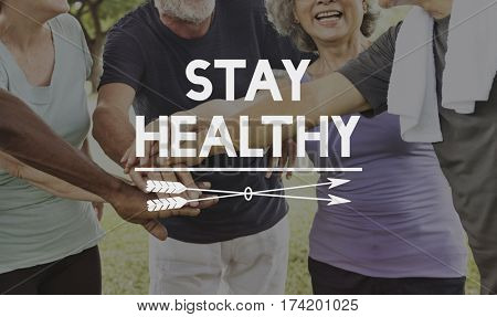 Stay healthy old people exercise