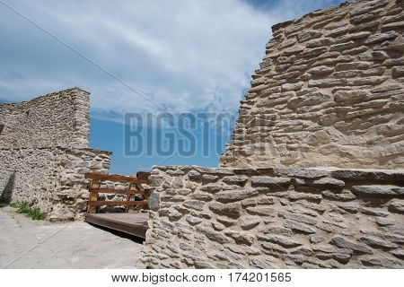 Old medieval citadel located in Transylvania , Deva, Romania