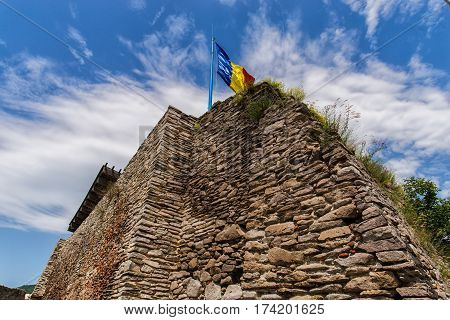 Old medieval citadel located in Transylvania , Deva, Romania