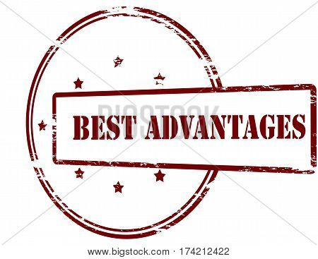 Stamp with text best advantages inside vector illustration
