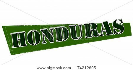 Stamp with word Honduras inside vector illustration