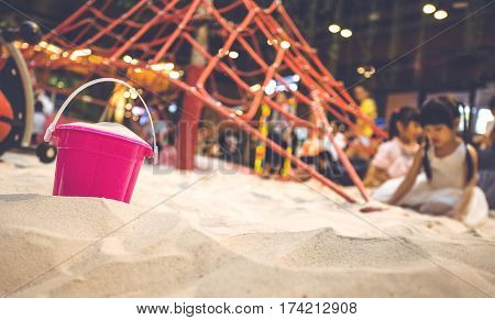 Sand At Indoor Playground in shopping mall