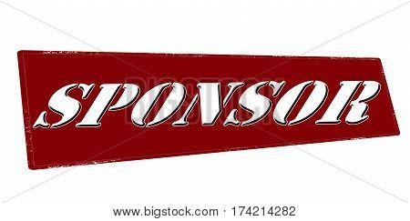 Stamp with word sponsor inside vector illustration