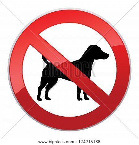 No dog sign. Dog walking fobidden symbol. pet ban icon