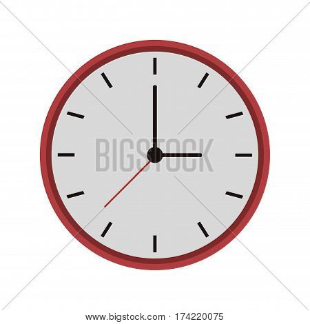 watch icon over white background. colorful design. vector illustration