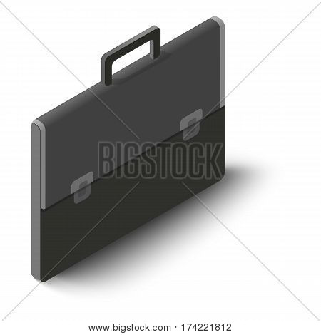 Briefcase icon. Isometric illustration of briefcase vector icon for web