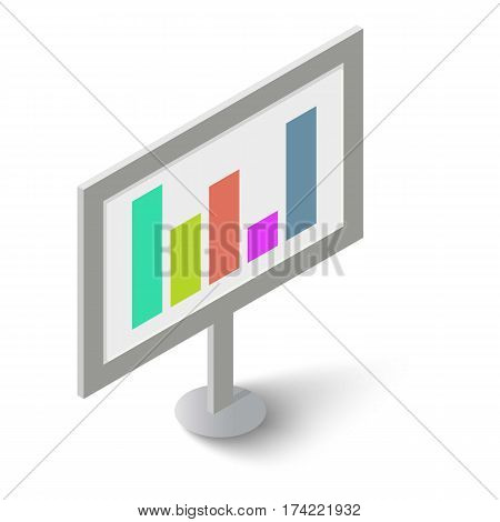 Graphic icon. Isometric illustration of graphic vector icon for web