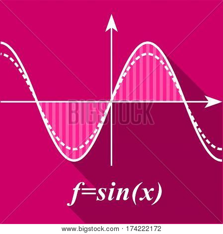 Algebra graph icon. Flat illustration of algebra graph vector icon for web