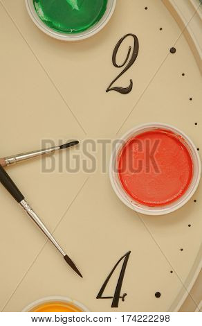 brush paint tool artist long hard work success in creativity