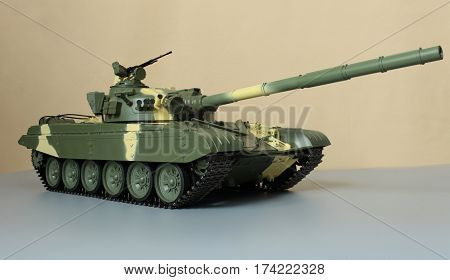 Huge firepower Soviet tank T-72 camouflage coloring