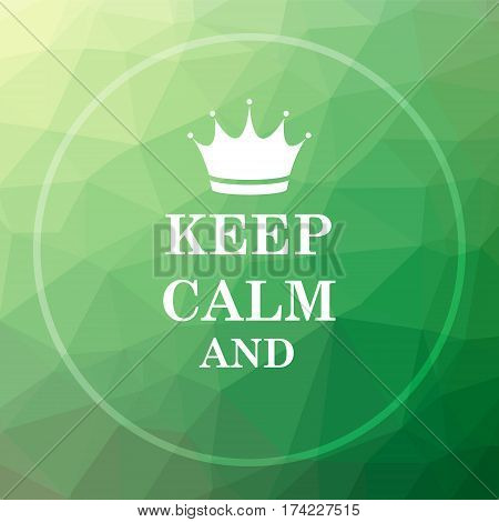 Keep Calm Icon