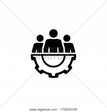 Technical Support Icon. Flat Design. Business Concept. Isolated Illustration.