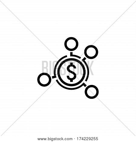 Money Distribution Icon. Flat Design. Business Concept. Isolated Illustration.