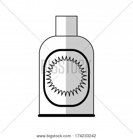 sunblock bottle icon over white backgronund. vector illustration