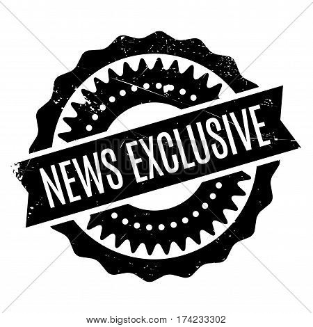 News Exclusive rubber stamp. Grunge design with dust scratches. Effects can be easily removed for a clean, crisp look. Color is easily changed.