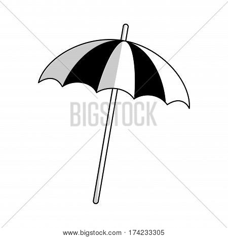 beach parasol icon over white backgronund. vector illustration