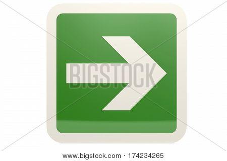 Green Right Arrow Sign