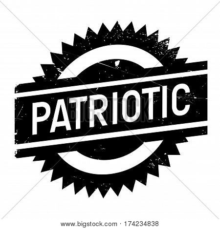 Patriotic rubber stamp. Grunge design with dust scratches. Effects can be easily removed for a clean, crisp look. Color is easily changed.