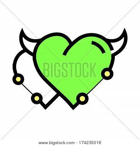 Twins Heart Devil Pen Tool Style Green