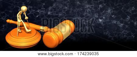 Injury Law Legal Concept With The Original 3D Character Illustration