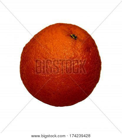 Single Orange, orange isolated on white background, Fresh Orange, Raw Orange, Fruit Orange
