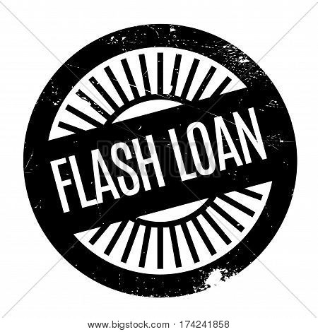 Flash Loan rubber stamp. Grunge design with dust scratches. Effects can be easily removed for a clean, crisp look. Color is easily changed.