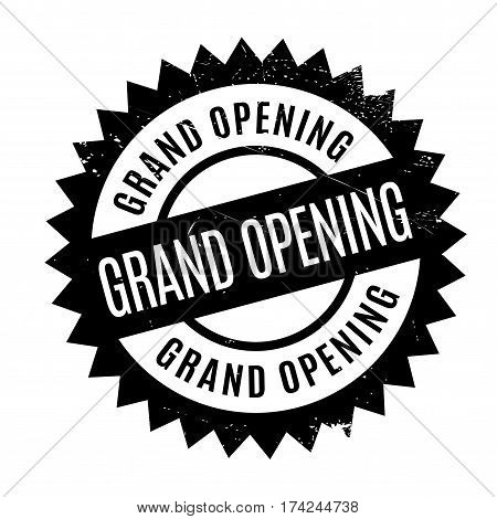 Grand Opening rubber stamp. Grunge design with dust scratches. Effects can be easily removed for a clean, crisp look. Color is easily changed.