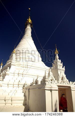 The hilltop monastery of Wat Phra That Doi Kong Mu Mea-Hong-Son Thailand.