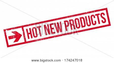 Hot New Products rubber stamp. Grunge design with dust scratches. Effects can be easily removed for a clean, crisp look. Color is easily changed.