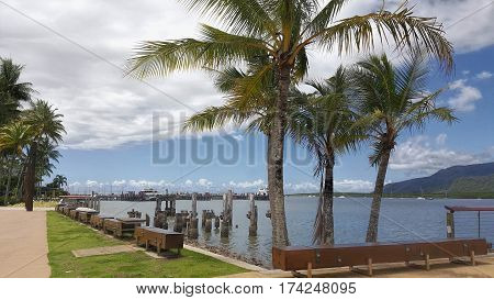 view of Cairns pier popular tourism area