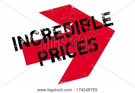 Incredible Prices rubber stamp. Grunge design with dust scratches. Effects can be easily removed for a clean, crisp look. Color is easily changed.