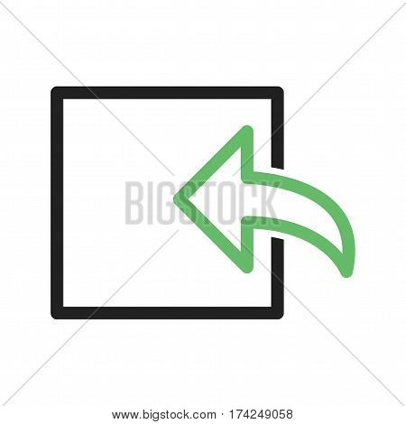 Web, incoming, message icon vector image. Can also be used for web interface. Suitable for use on web apps, mobile apps and print media.