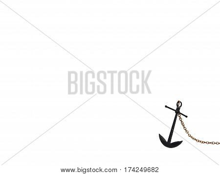 Anchor ships / black anchor , isolated white