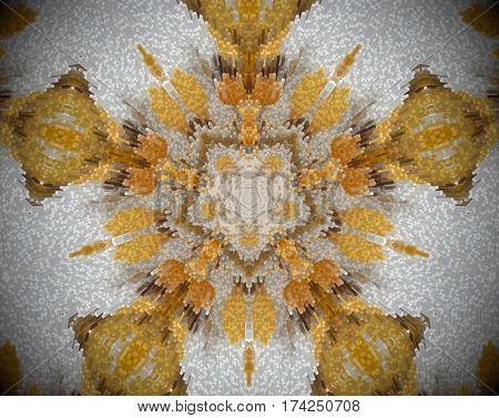 Pentagon Shape Abstract Extrude Mandala