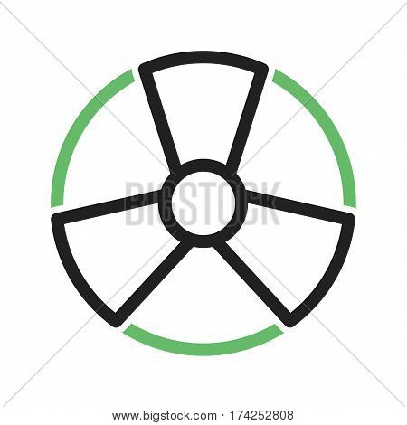 Danger, sign, radioactive icon vector image. Can also be used for disasters. Suitable for mobile apps, web apps and print media.