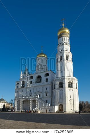 Bell Tower Ivan the Great the Assumption Belfry and the Filaret annexe Cathedral Square of the Moscow Kremlin built in 1505-1508 years the object of cultural heritage