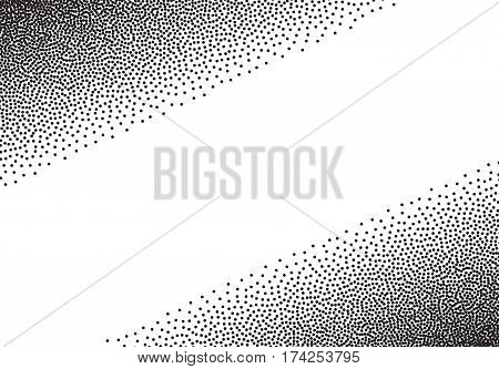 Dotwork gradient background, black and white stipple dots