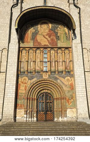 South Korsun gate with frescoes in the Assumption Cathedral of the Moscow Kremlin