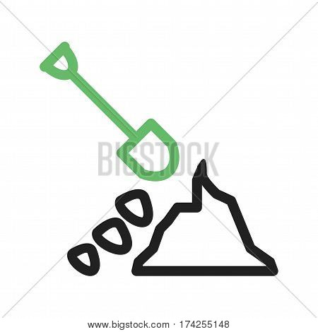 Debris, management, disaster icon vector image. Can also be used for community. Suitable for mobile apps, web apps and print media.