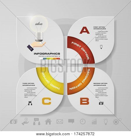 Abstract 4 steps infographis elements.Vector illustration. EPS10.