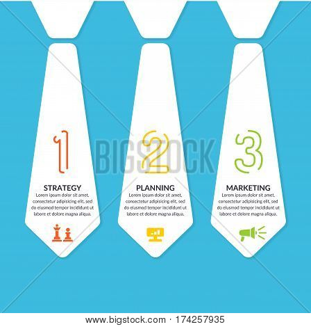 Business infographics template stripe for text and information. Fully editable file. Vector illustration.