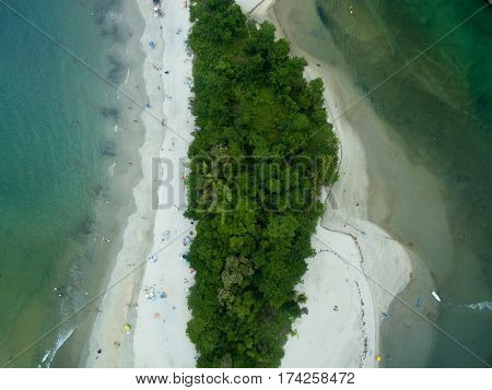 Top View of Paradise Island