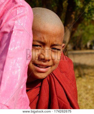 Little Buddhist Monk In Bagan, Myanmar