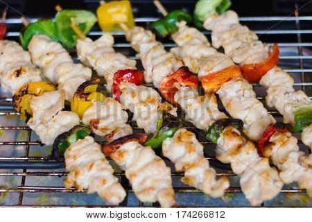 Chicken Barbeque On Grill Sell In Market