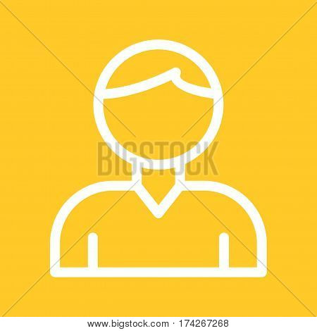 User, male, sign icon vector image. Can also be used for web interface. Suitable for use on web apps, mobile apps and print media.